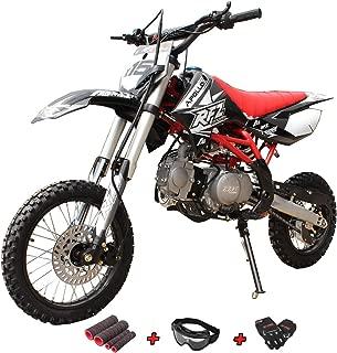 X-Pro 125cc Dirt Bike Pit Bike Adults Dirt Bikes Pit Bikes Youth Dirt Pitbike 125 Dirt Bike with Gloves, Goggle and Handgrip