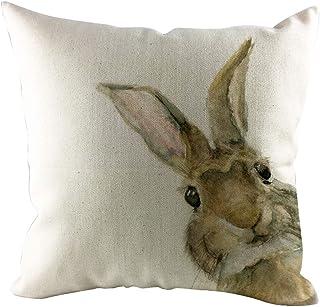 comprar comparacion LEEDY Happy Rabbit Easter Cojín Simple Sofá Cama Decoración para el Hogar Festival Conejo Funda de Almohada
