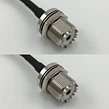 6 inch RGU178 UHF Female BULKHEAD to UHF Female BULKHEAD Pigtail Jumper RF coaxial cable 50ohm High Quality Quick USA Shipping