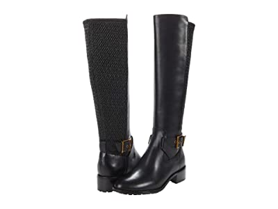Cole Haan Newcastle Stretch Boot (40 mm) (Burnished Black Mellow Major Waterproof Leather/Nylon/Black Os/A) Women