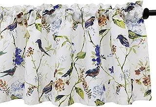 VOGOL Birds Printed Valances for Windows, Rod Pocket Window Valance for Kitchen Living Room, W52xL18, One Panel