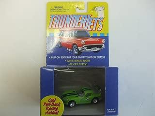Johnny Lightning ThunderJet 500 - HO Scale - Pull Back Action Viper GTS Lime Green w/Blue Stripe