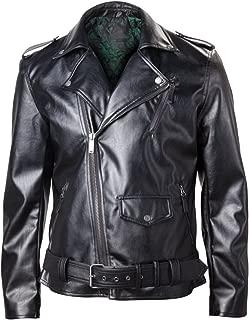 Official Mens Legend of Zelda Logo Black Faux Leather Biker Bomber Jacket
