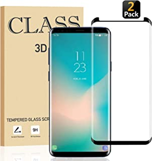 [Pack of 2] Galaxy S9 Plus Screen Protector Tempered Glass, [Updated] 3D Curved Dot Matrix, Full Screen Cover, Samsung S9 + Glass Screen Protector