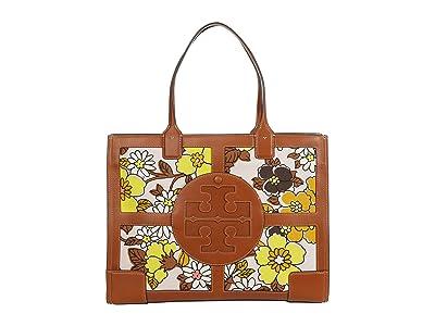 Tory Burch Ella Printed Quadrant Tote (Pink Wallpaper Floral) Handbags