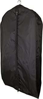 HANGERWORLD Black 44inch Breathable Nylon Multiple Garment Coat Clothes Carry Cover Protector Bags 6inch Gusset