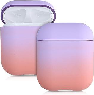 kwmobile Custodia compatibile con Apple AirPods - Protezione resistente porta auricolari - Cover in plastica 2 colori lava...