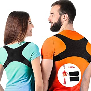 Posture Corrector for Men and Women,  Upper Back Brace for Clavicle Support,  Adjustable Back Straightener and Providing Pain Relief from Neck,  Back & Shoulder,  FDA Approved