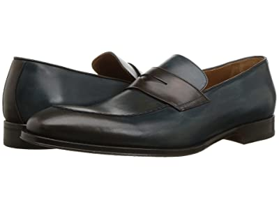 Bruno Magli Fanetta (Blue/Dark Brown) Men