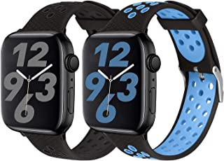 SKYLET Sport Bands Compatible with Apple Watch 42mm 44mm 38mm 40mm, Soft Silicone Breathable Wristbands Replacement Straps...