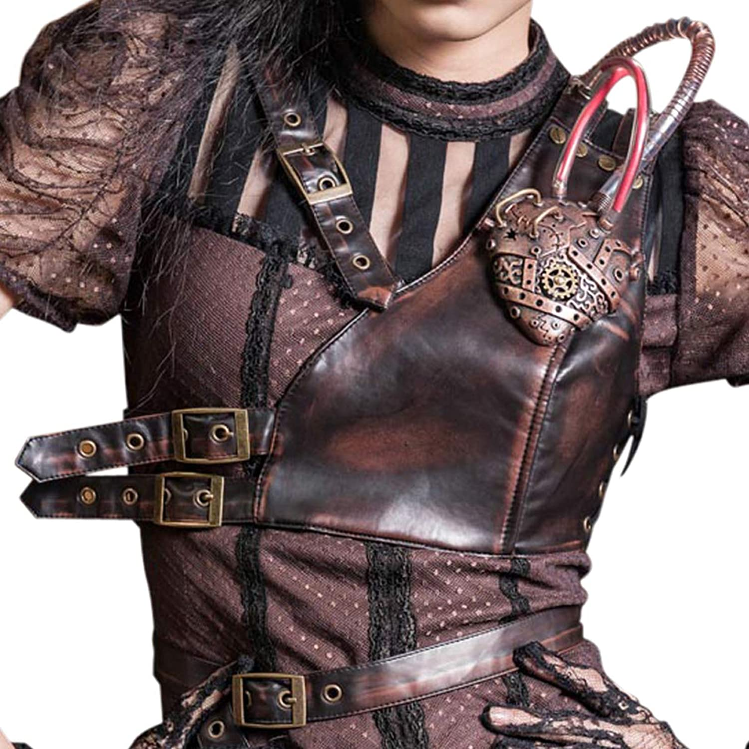 Steampunk Harness Shoulder Armor Men Renaissance Women Accessories Belt Bustier