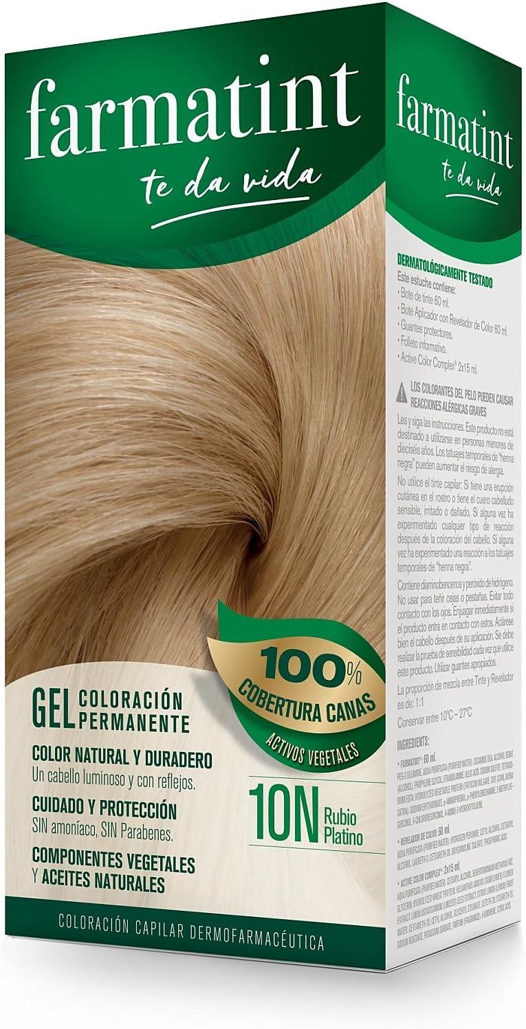 Farmatint Gel 8N Rubio Claro | Color natural y duradero | Componentes vegetales y aceites naturales | Sin amoníaco | Sin Parabenos | ...