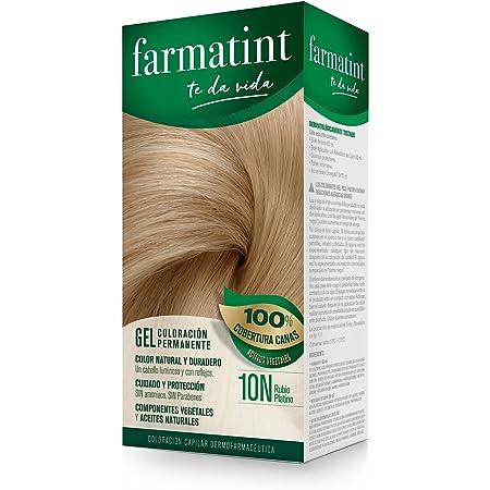 Farmatint Gel 10N Rubio Platino | Color natural y duradero ...