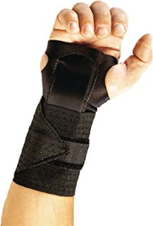 epX AmbiWrist Brace, Adjustable Stabilizing Wrist Support with Metal Stay to Restrict Movement for Sprains, Pain, and Contusions, Padded for Comfort, Fits Both Left & Right Hand, Medium
