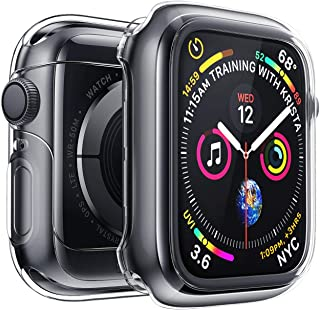 Penom Case for New Apple Watch SE Series 6 Screen Protector 44mm(2020), Apple Watch Series 5 Series 4 Case (44mm, Black)