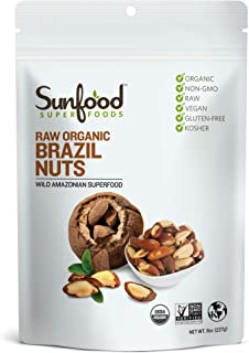 Sunfood Superfoods Brazil Nuts Organic Raw, 8 oz.