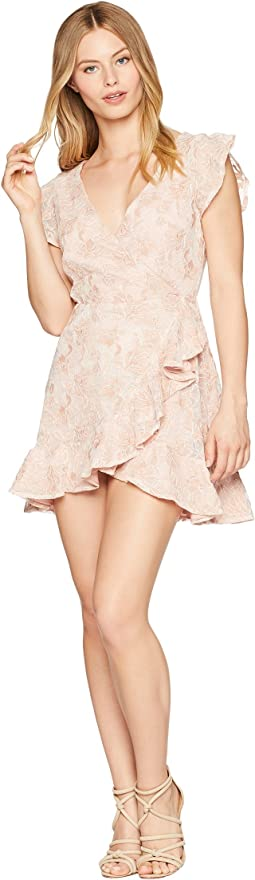 RSVP Karlie Lace Ruffle Faux Wrap Dress