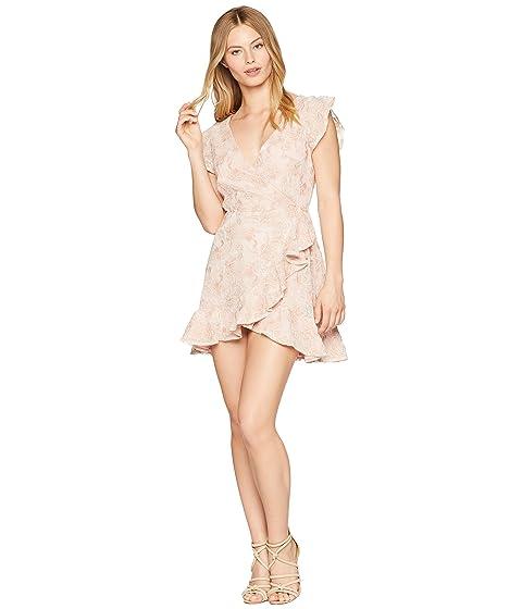 Faux Ruffle Dakota Rosa BB Vestido Wrap Karlie Blossom RSVP Lace fXqwUI