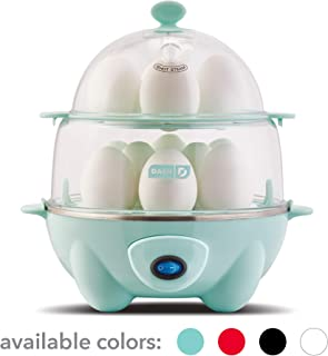 Dash DEC012AQ Deluxe Rapid Egg Cooker: Electric, 12 Capacity for Hard Boiled, Poached,..