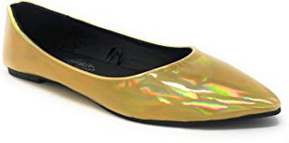 Women's Pointed-Toe Slip-On Comfort Fit Ballet Flat