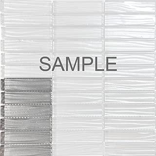 Modket TDH232MO-S SAMPLE - Modern Gray Metallic Wave Cold Spray Stacked Pattern Mosaic Tile Backsplash