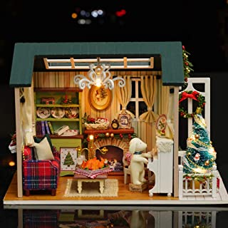 DIY Miniature Wooden Doll House Furniture Kits Toys Handmade Craft House Model Toys Gift For Kids Christmas Gifts