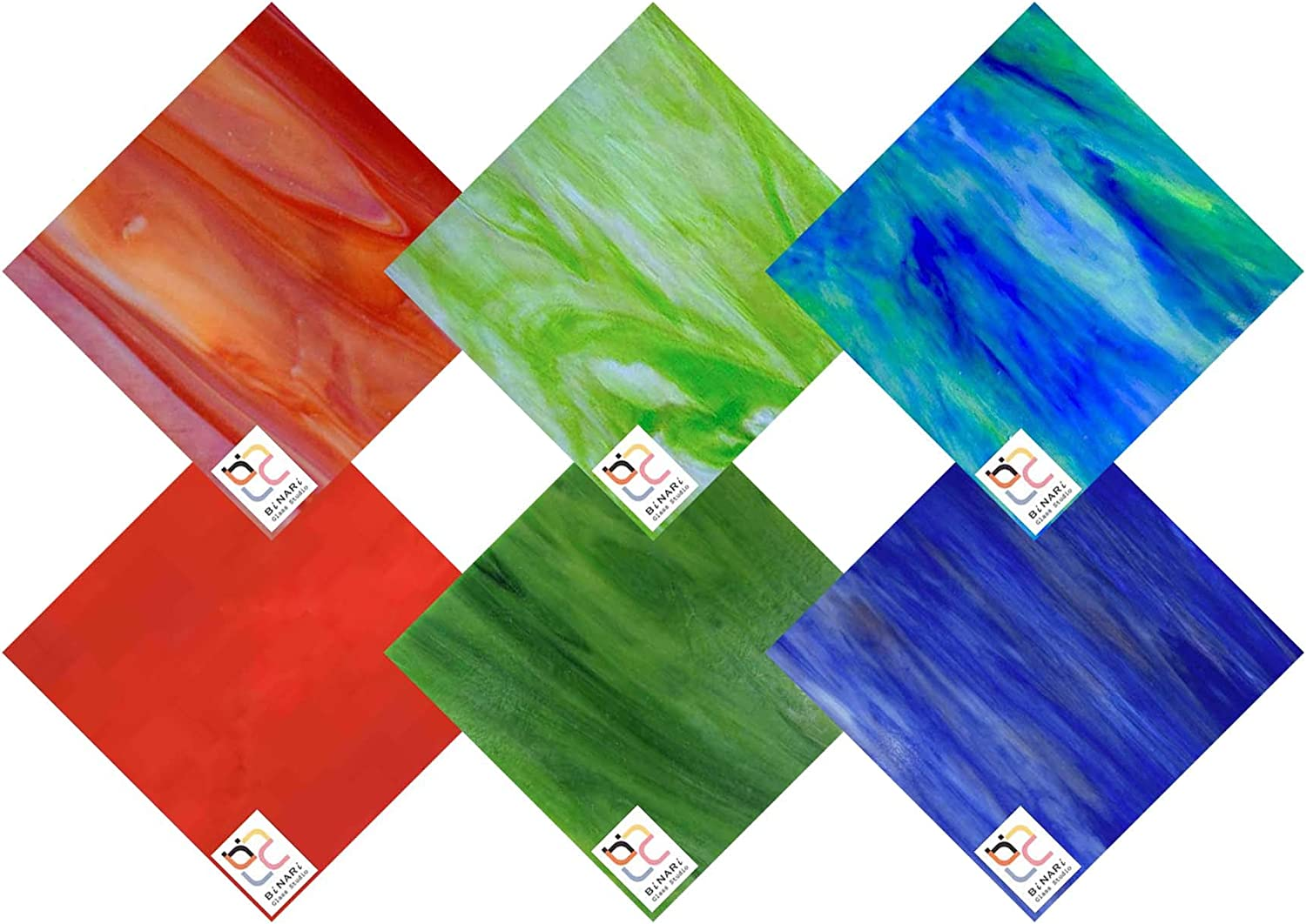 sold out Wissmach 6 Sheet Mixed Color Variety Pack Long-awaited Mosa Stained and Glass