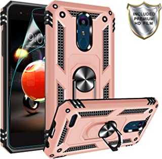 LG Tribute Empire Case,LG Aristo 3/Aristo 2/Rebel 4 LTE/Aristo 2 Plus/Phoenix 4/Tribute Dynasty/Zone 4 Case,Gritup Magnetic Car Mount Ring Holder Stand Kicktand Phone Case for LG K8 2018 Rose Gold