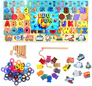 [EDU FUN Toy], Educational Toy for Kids & Toddlers, Learn with Fun game for kids, Fishing board for Toddlers, Starter for ...