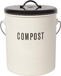 Now Designs Vintage Compost Bin, Ivory
