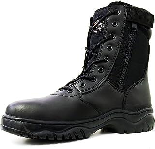 "G4U-CT Men's Tactical Boots Black Side Zipper 8"" Combat Military Swat Work Shoes"