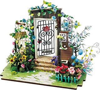 (Garden) - Rolife Dollhouse DIY Craft House Kit-Small Sized Miniature with Accessories and LED-Wooden Model Building Set-C...