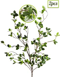 Artificial Plant 43.3 Inch Green Branches Leaf Shop Garden Office Home Decoration (2 pcs)