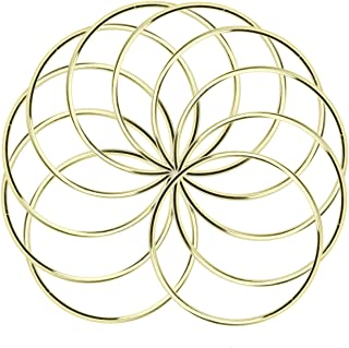 JETEHO 10 Pack 3 Inch Gold Dream Catcher Metal Rings Hoops Macrame Ring for Dreamcatchers and Crafts