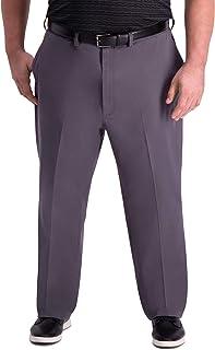 Haggar Men's Big and Tall B&t Premium Comfort Khaki Flat Front Classic Fit Pant