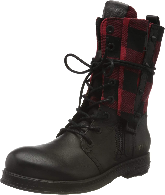 REPLAY Women's Welkom Regular discount Fashion Boot Black Red 178 Max 61% OFF 7