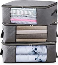 Storage Bags Clothes Organizers Under-Bed Storage Bins Closet Organizers Foldable Comforter Container with Sturdy Zipper, ...