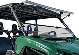 SuperATV Heavy Duty Scratch Resistant 3-IN-1 Flip Windshield for Yamaha Viking/Viking VI (2014+) - Hard Coated for Long Life and Extreme Durability - Easy to Install!