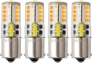 Bombilla LED BA15s 12V AC / DC 1156 1141 S8 base de contacto simple, bombilla resistente al agua, 5W cálido blanco 3000 k 500LM para barco, RV, automóvil, Iluminación del paisaje, etc. (4-Pack)