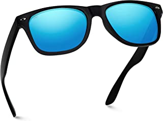 Polarized Flat Mirrored Reflective Color Lens Large Horn Rimmed Style Sunglasses