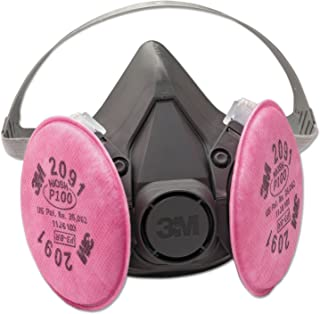 3M Safety 142-6291 6000 Series Half Facepiece Respirator Assembly, Medium