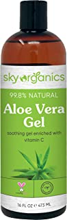 Aloe Vera Gel (16 oz) Cold-pressed Ultra Hydrating Skin Soothing Aloe Gel for Face Body After-Sun Care Aloe Gel Made in USA