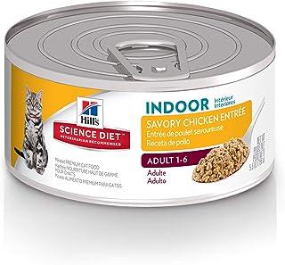 Hills Science Diet Wet Cat Food, Adult, Indoor, 5.5 oz Cans, 24