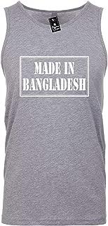Mens Funny Tank Top T-Shirt Unisex Tee (Made in Bangladesh) Adult Novelty Shirt