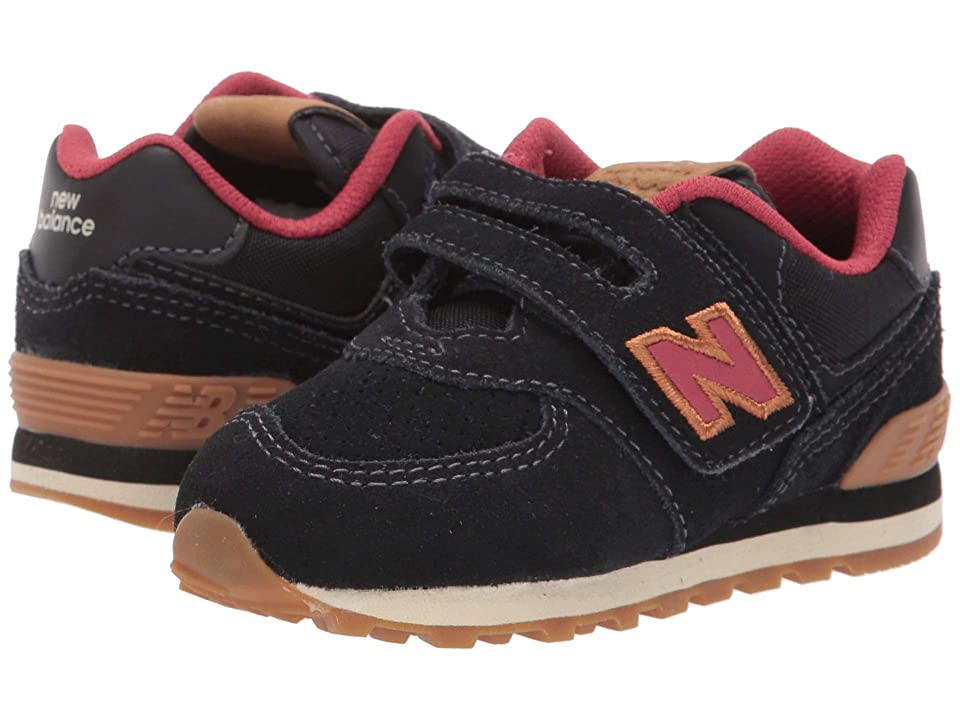 New Balance Kids IV574v1 (Infant/Toddler) (Black/Red Earth) Kids Shoes