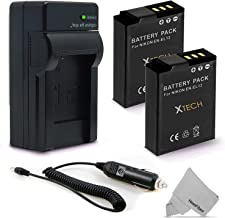 2 Pack EN-EL12 / ENEL12 Battery and Battery Charger for Nikon Coolpix A900 AW100 AW110 AW120 AW130 S9900 S9700 S9500 S9300...