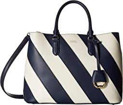 Diagonal Stripe Marcy Satchel Large