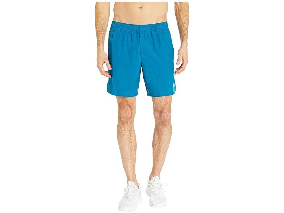 Nike Challenger 7 Dri-Fit Running Short (Green Abyss/Green Abyss/Hyper Jade) Men