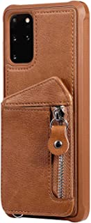 PU Leather Flip Cover Compatible with Samsung Galaxy S10e, Elegant brown Wallet Case for Samsung Galaxy S10e