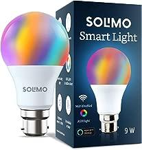 Amazon Brand - Solimo Smart LED Light, 9W, B22 Holder, Alexa Enabled